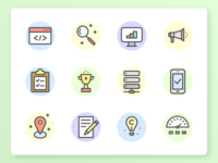SEO & Development Icon Set