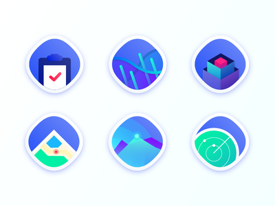 App icons scope automation information task map charts diagrams location data application icon