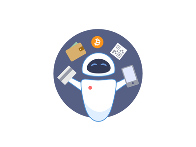 Eve exchange checkout e-commerce qr payment card cash bitcoin illustration pixar eve