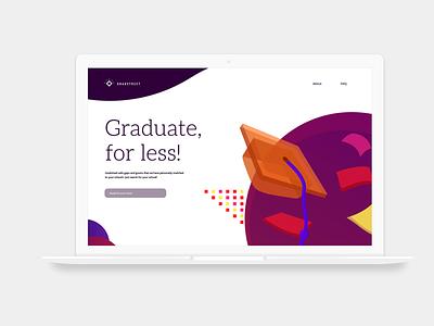 Landing page for GradStreet ui web design web branding