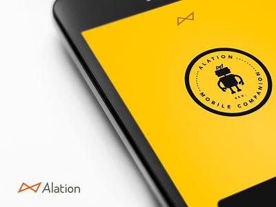 Alation Mobile Companion Splash Screen mobile ui branding