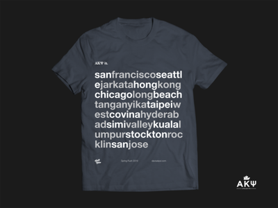 Alpha Kappa Psi Rush Shirt Concept typography branding apparel