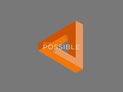 Make It Possible Event Branding Concept triangle orange logo