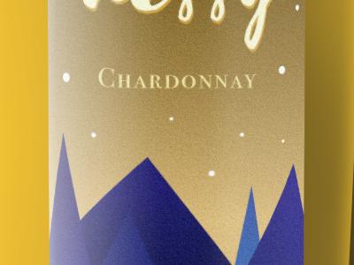 Chard Med Yellow branding illustration label wine