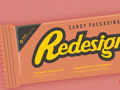 PIXEL Halloween Event Banner candybar flyer design poster flyer branding