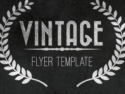 free vintage flyer template by james george dribbble
