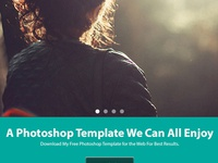 Peace Free Website Template Psd