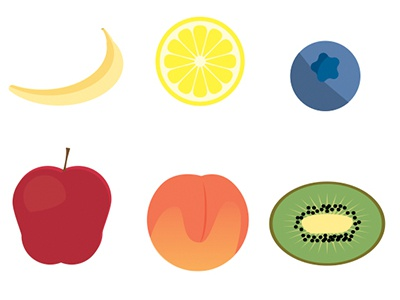 15 Free Fruit Icons(Ai + PNG + SVG)