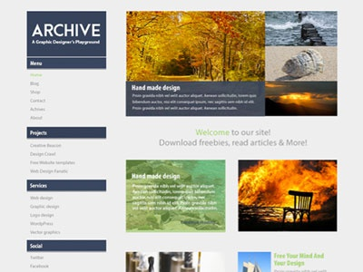 Archive Free Photoshop Website Template psd web design photoshop template