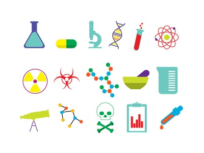 15 Free Vector Science Icons (Ai Format) icons free icon sets vector