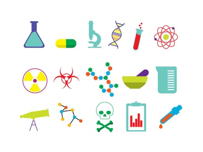15 Free Vector Science Icons (Ai Format)