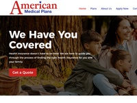 American Medical Plans website design