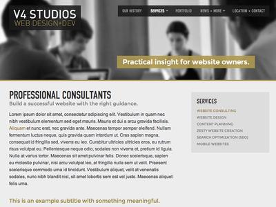 New V4 Website
