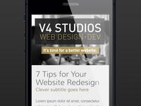New V4 Website Mobile (Responsive)