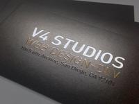 New V4 Business Cards
