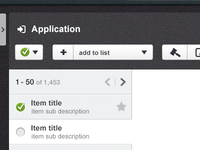Application menu system