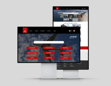 Website Redesign for Emirates Airline