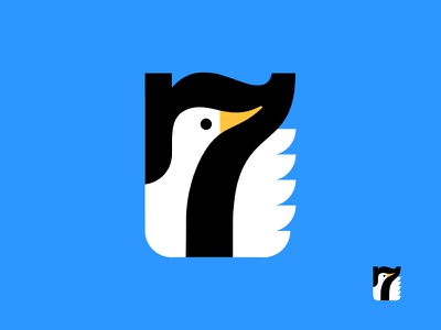 Seven Ducks identity illustration logo