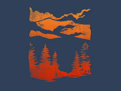 The Great Smokies the great outdoors nature woods mountains under armour outdoor lifestyle outdoor national park hand drawn illustration