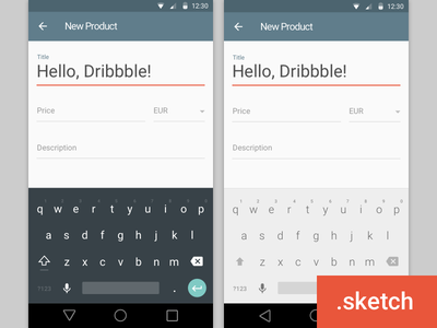 Android L keyboard material keyboard android sketchapp sketch freebie download android l material design lollipop