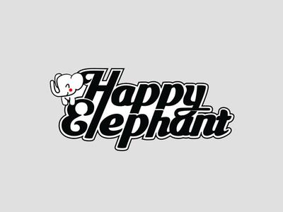 Happy Elephant script Logo