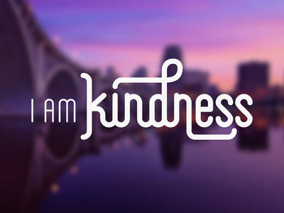 I Am Kindness Logo logo typography type round