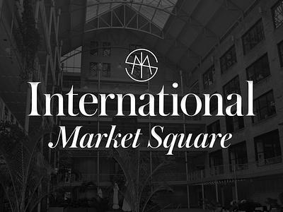 International Market Square logo typography fashion sophisticated emblem