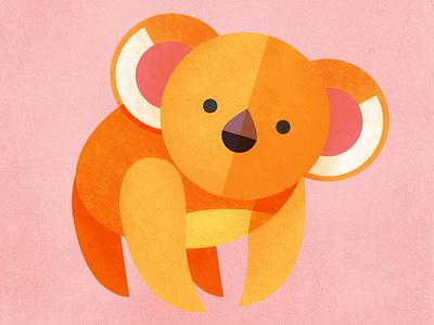 Koala illustration animal koala geometric