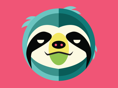 Mascot for Sedentary Athletic Group sloth illustration flat color mascot sport