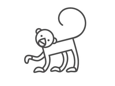 Monkey monkey icon animal line logo