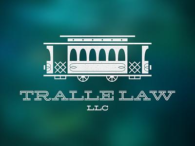 Tralle Law LLC Logo law firm street car trolley car tralle law traffic ornament illustration wheels transportation identity logo