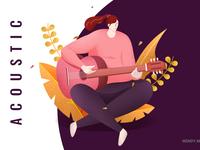 Guitar girl illustration