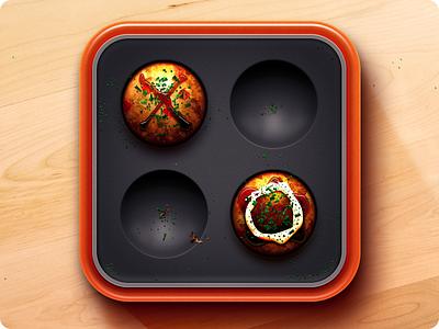 Tacoyaki Icon tacotaco ios icon iphone game food grill