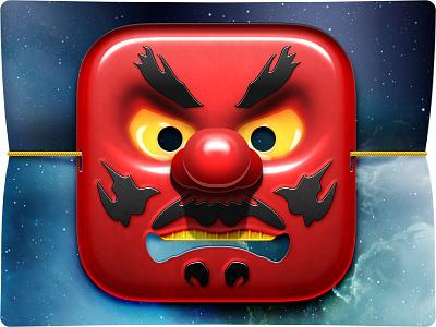 Japanese Tengu iOS Icon ios icon japan tengu red photoshop ios7 illustration