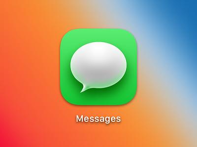 OS X Big Sur Messages icons big sur osx
