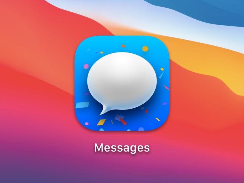 Message App, OSX BigSur bigsur message osx icon