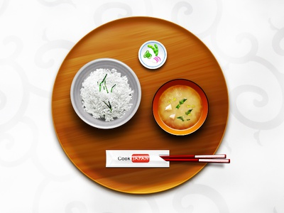 CookJapan Design flash photoshop chopsticks miso rice food japanese illustration icon