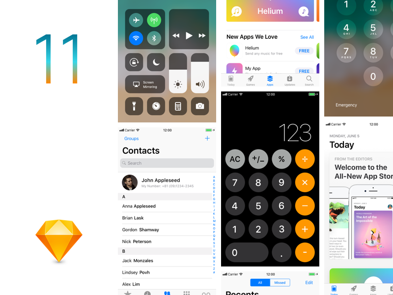 iOS11 GUI Sketch template gui iphone ux ui source sketch template ios11 ios