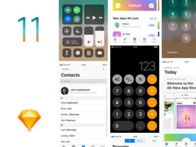 iOS11 GUI Sketch template
