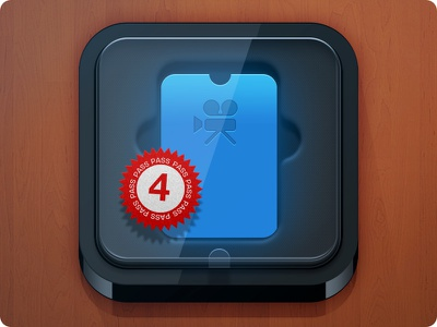 PassBox iOS Icon 4pass iphone ios icon passbook pass card box plastic photoshop transparent illustration