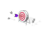 For service_Select Target illust