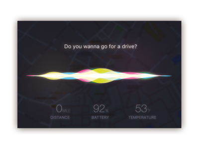 Day034 - Car Interface siri dailyui ui interface car