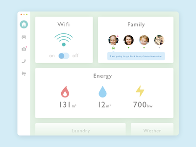 Day021 - Home Monitoring Dashboard dailyui ux ui social monitoring like mac interface home flat download dashboard