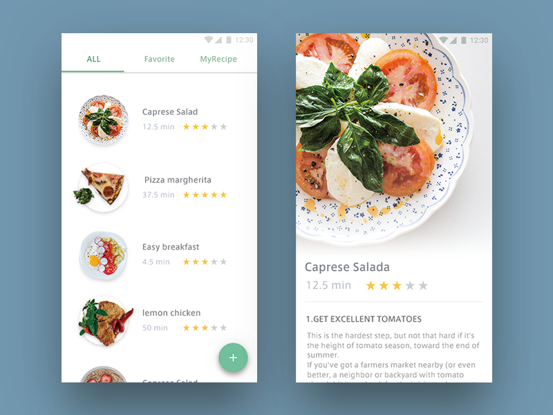 Day 040 - Recipe ui dailyui recipe meal kitchen food eat dish cooking cook