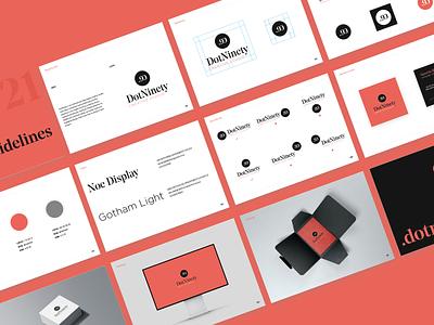 Brand guidelines - Brandbook brand identity graphic logo graphic design brandbook branding brand design brand creative studio creative dotninety