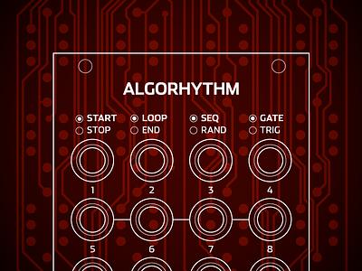 Algorhythm Illustration synthesizer synth sequencer modular eurorack electronics circuits analog