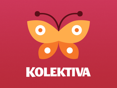 Kolektiva Logo logo butterfly kolektiva