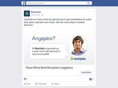 Facebook ad campaign job board bestjobs marketing campaign