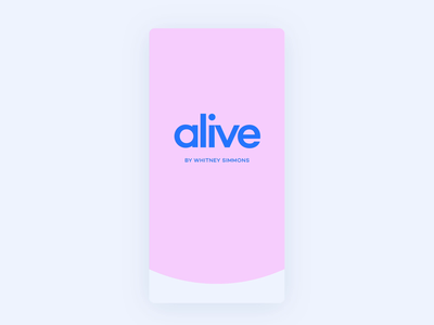 Alive App - Onboarding fitness app fitness onboarding screen onboarding ui onboard app ui ios motion mobile animation
