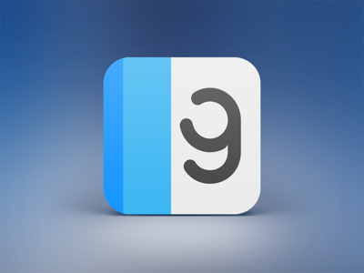 ReadGloss iPhone App Icon ios iphone ipad app icon magazine blue ios 7 mobile city guide appstore news alterplay